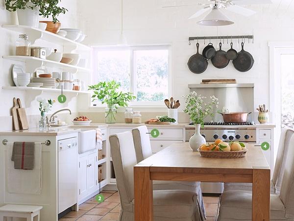 como decorar una cocina en blanco